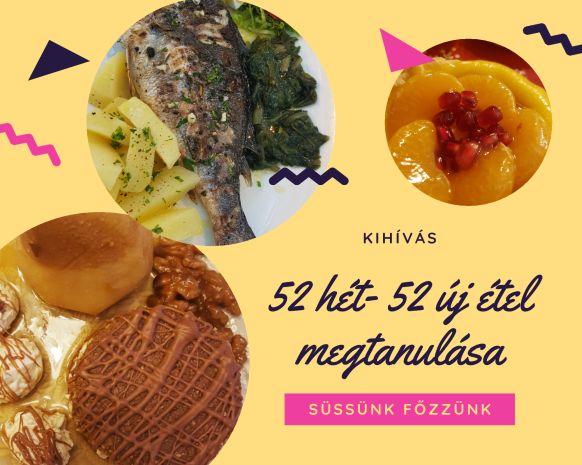 52 hét 52 új étel