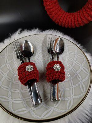 szalvéta gyűrű piros